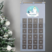 Personalised The Snowman and the Snowdog Advent Calendar In Silver Grey - Shop Personalised Gifts