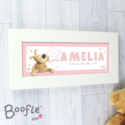 Personalised Boofle It's a Girl Name Frame - Shop Personalised Gifts