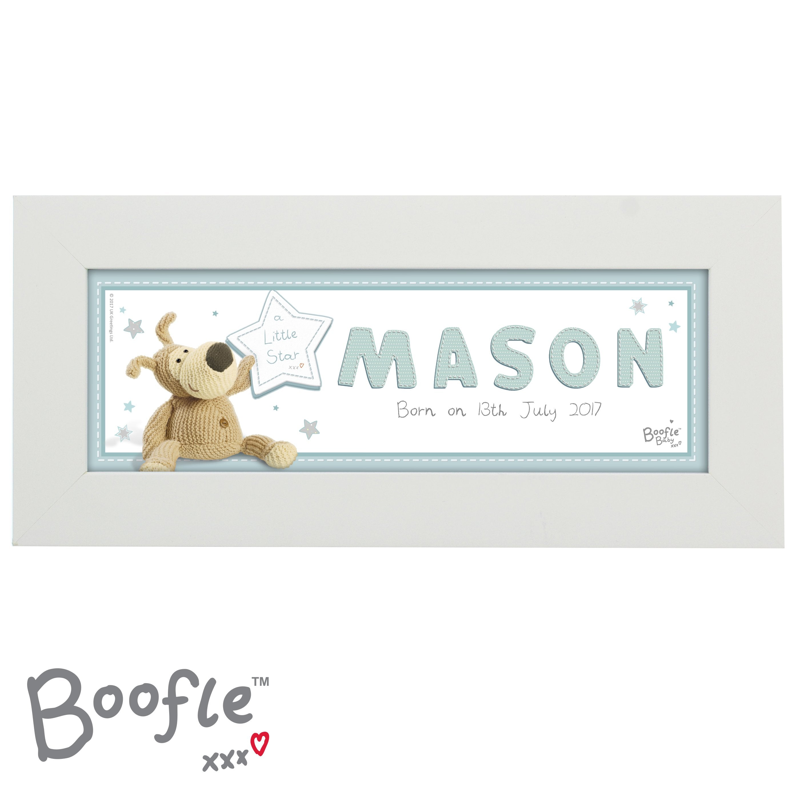 Personalised Boofle It's a Boy Name Frame - Shop Personalised Gifts