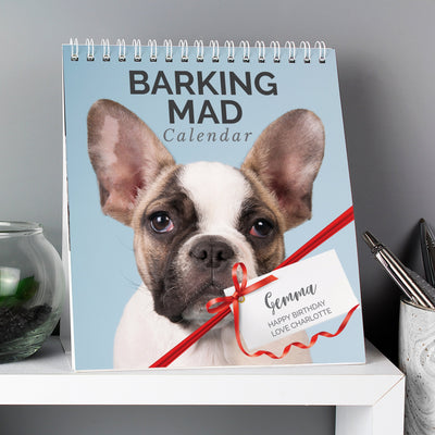 Personalised Barking Mad Dog Desk Calendar - Shop Personalised Gifts