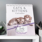 Personalised Cats and Kittens Desk Calendar - Personalised Books-Personalised Gifts-Baby Gifts-Kids Books