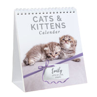 Personalised Cats and Kittens Desk Calendar - Shop Personalised Gifts
