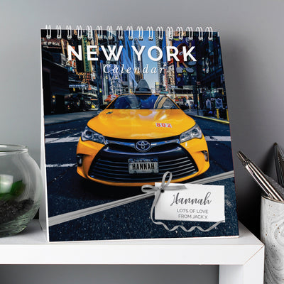 Personalised New York Desk Calendar - Shop Personalised Gifts