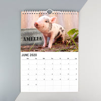 Personalised A4 Cute Animals Calendar - Shop Personalised Gifts
