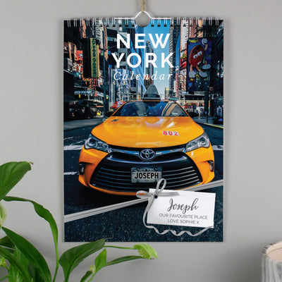 Personalised A4 New York Calendar - Personalised Books-Personalised Gifts-Baby Gifts-Kids Books