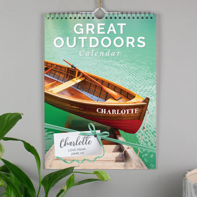 Personalised A4 Great Outdoors Calendar - Shop Personalised Gifts