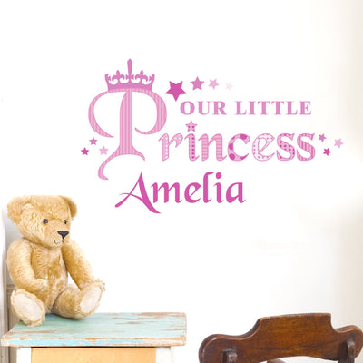 Personalised Our Little Princess Wall Art - Shop Personalised Gifts