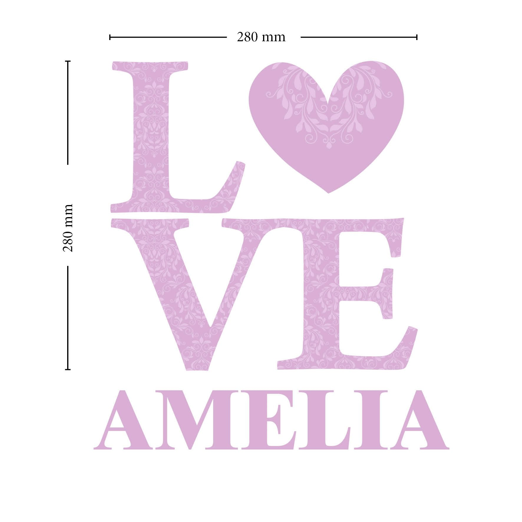 Personalised LOVE Lilac Wall Art - Shop Personalised Gifts