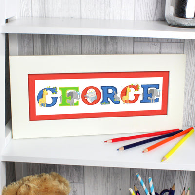 Personalised Animal Alphabet Name Frame - Personalised Books-Personalised Gifts-Baby Gifts-Kids Books