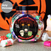 Personalised Halloween Sweet Jar Multi Message - Shop Personalised Gifts