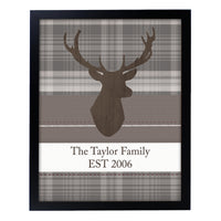 Personalised Highland Stag Black Framed Print - Shop Personalised Gifts