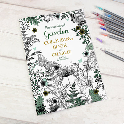 Personalised Gardening Colouring Book - Personalised Books-Personalised Gifts-Baby Gifts-Kids Books