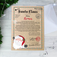Personalised Santa Claus Letter Christmas Letter For Children - shop-personalised-gifts
