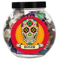 Personalised Halloween Sugar Skull Sweet Jar - Personalised Books-Personalised Gifts-Baby Gifts-Kids Books