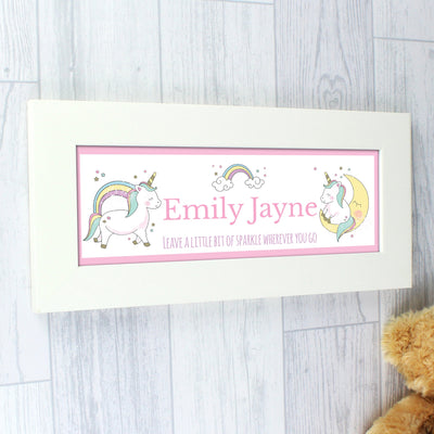 Personalised Baby Unicorn Name Frame - Personalised Books-Personalised Gifts-Baby Gifts-Kids Books