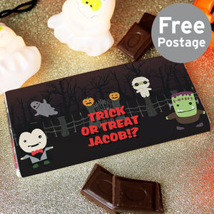 Personalised Halloween Milk Chocolate Bar - Shop Personalised Gifts
