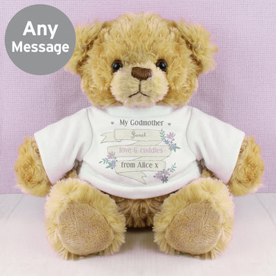 Personalised Garden Bloom Message Teddy Bear - Shop Personalised Gifts