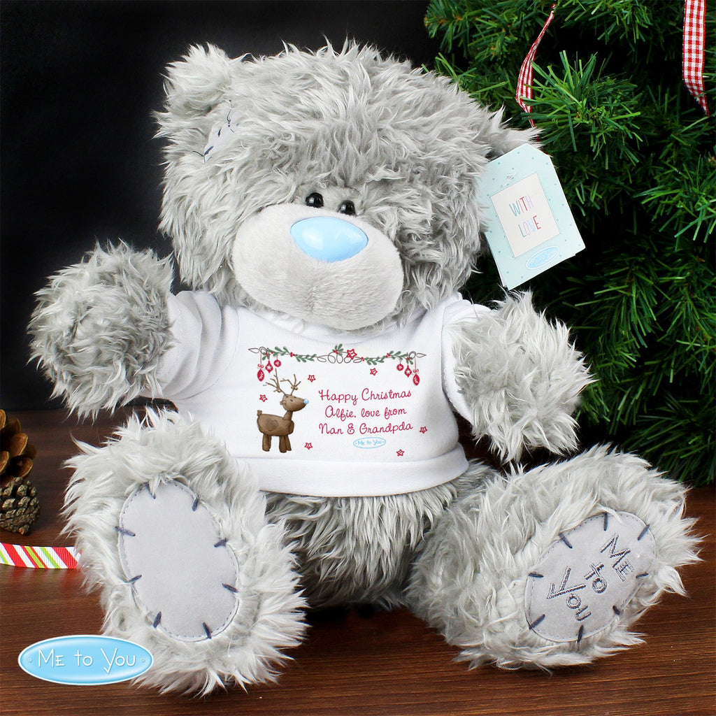 Personalised Me To You Christmas Teddy Bear with Reindeer T-Shirt - Shop Personalised Gifts