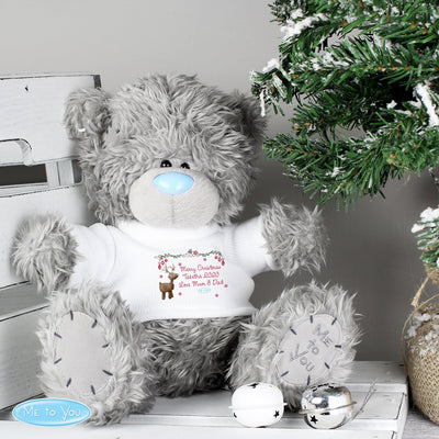 Personalised Me To You Christmas Teddy Bear with Reindeer T-Shirt