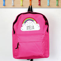 Personalised Rainbow Pink Backpack - Shop Personalised Gifts