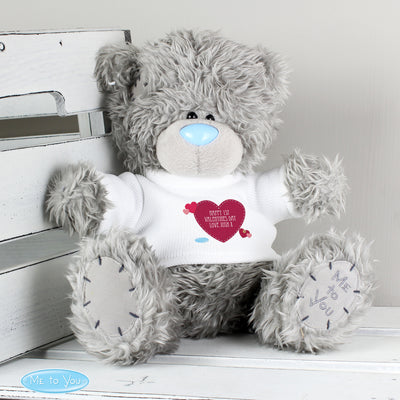 Personalised Me To You Teddy Bear with Solid Heart T-Shirt - shop-personalised-gifts