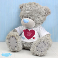 Personalised Me To You Teddy Bear with Solid Heart T-Shirt