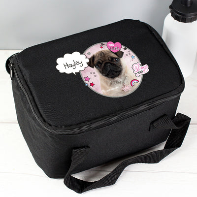 Personalised Rachael Hale Doodle Pug Black Insulated Lunch Bag - Shop Personalised Gifts