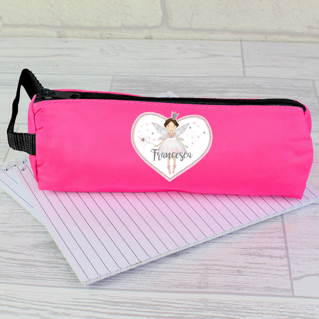 Personalised Fairy Princess Pink Pencil Case - Shop Personalised Gifts