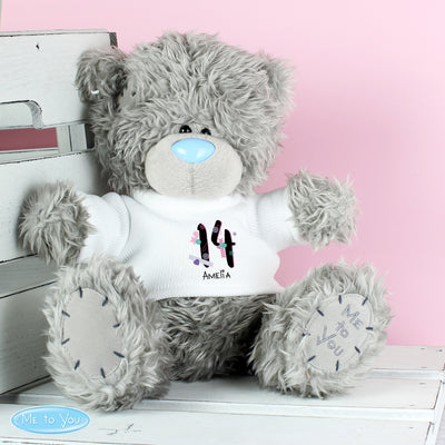 Personalised Me to You Teddy Bear with Big Age Birthday T-Shirt