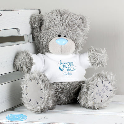 Personalised Me to You Teddy Bear with 'To the Moon and Back' T-Shirt