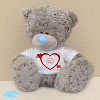 Personalised Me to You Teddy Bear with Hearts T-Shirt - Shop Personalised Gifts