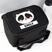 Personalised Panda Black Insulated Lunch Bag - Personalised Books-Personalised Gifts-Baby Gifts-Kids Books