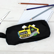 Personalised Digger Black Pencil Case - Shop Personalised Gifts