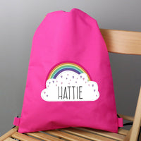 Personalised Rainbow Pink Swim & Kit Bag - Shop Personalised Gifts