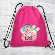 Personalised Cute Bunny Pink Swim & Kit Bag - Shop Personalised Gifts