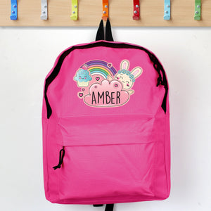 Personalised Cute Bunny Pink Backpack - Shop Personalised Gifts