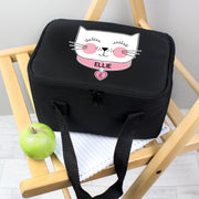 Personalised Cute Cat Black Insulated Lunch Bag - Personalised Books-Personalised Gifts-Baby Gifts-Kids Books
