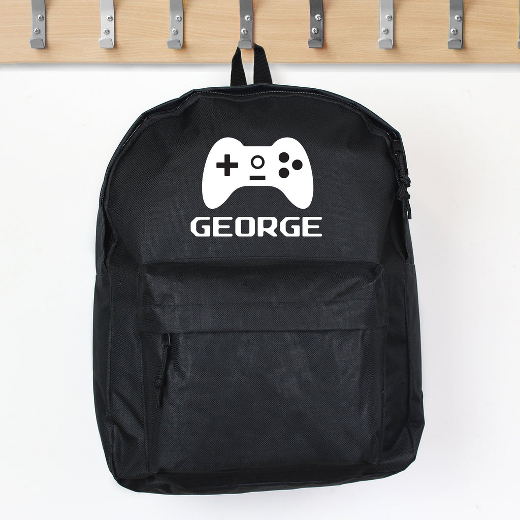 Personalised Gaming Black Backpack - Personalised Books-Personalised Gifts-Baby Gifts-Kids Books