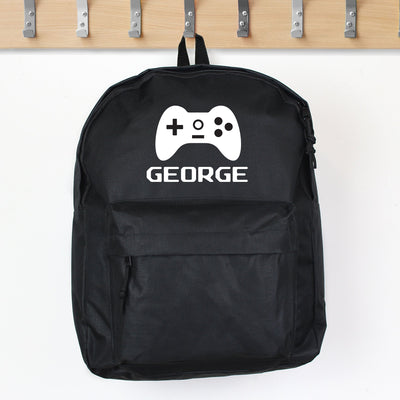 Personalised Gaming Black Backpack - Shop Personalised Gifts
