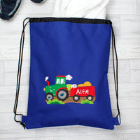 Personalised Tractor Blue Swim & Kit Bag - Personalised Books-Personalised Gifts-Baby Gifts-Kids Books