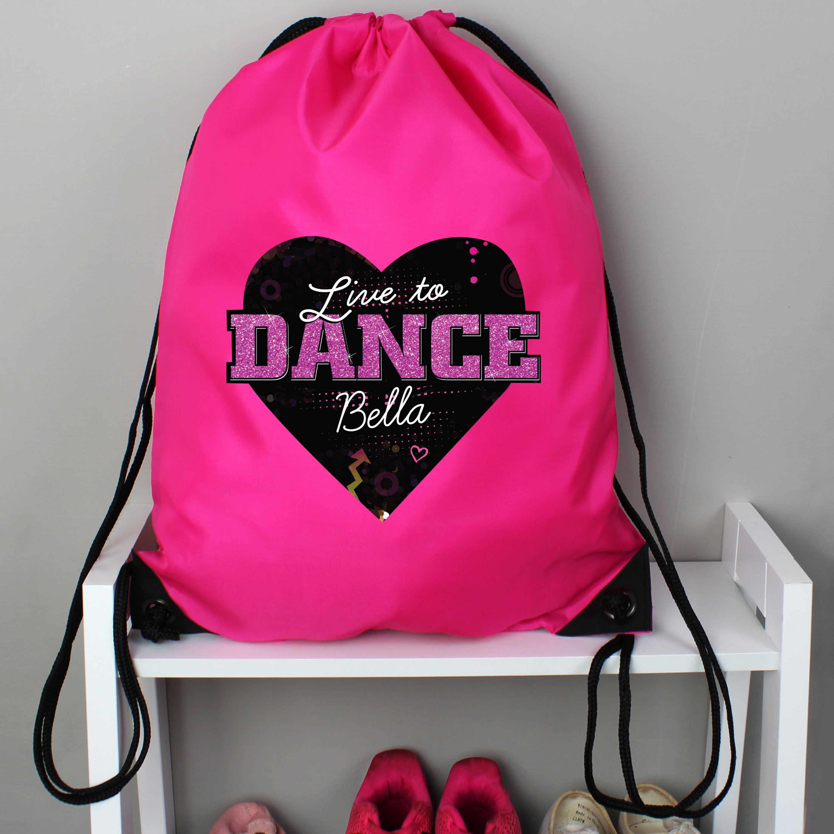 Personalised 'Live to Dance' Pink Kit Bag - Shop Personalised Gifts (4719556886614)