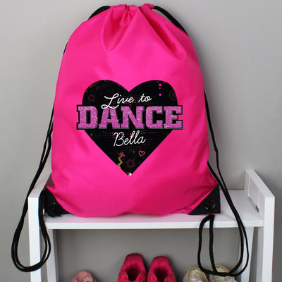 Personalised 'Live to Dance' Pink Kit Bag - Shop Personalised Gifts