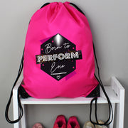 Personalised 'Born to Perform' Pink Kit Bag - Shop Personalised Gifts