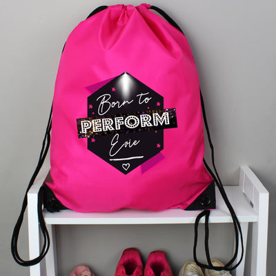 Personalised 'Born to Perform' Pink Kit Bag - Personalised Books-Personalised Gifts-Baby Gifts-Kids Books