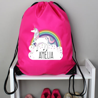 Personalised Unicorn Pink Kit Bag - Shop Personalised Gifts
