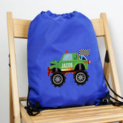 Personalised Monster Truck Blue Kit Bag - Personalised Books-Personalised Gifts-Baby Gifts-Kids Books
