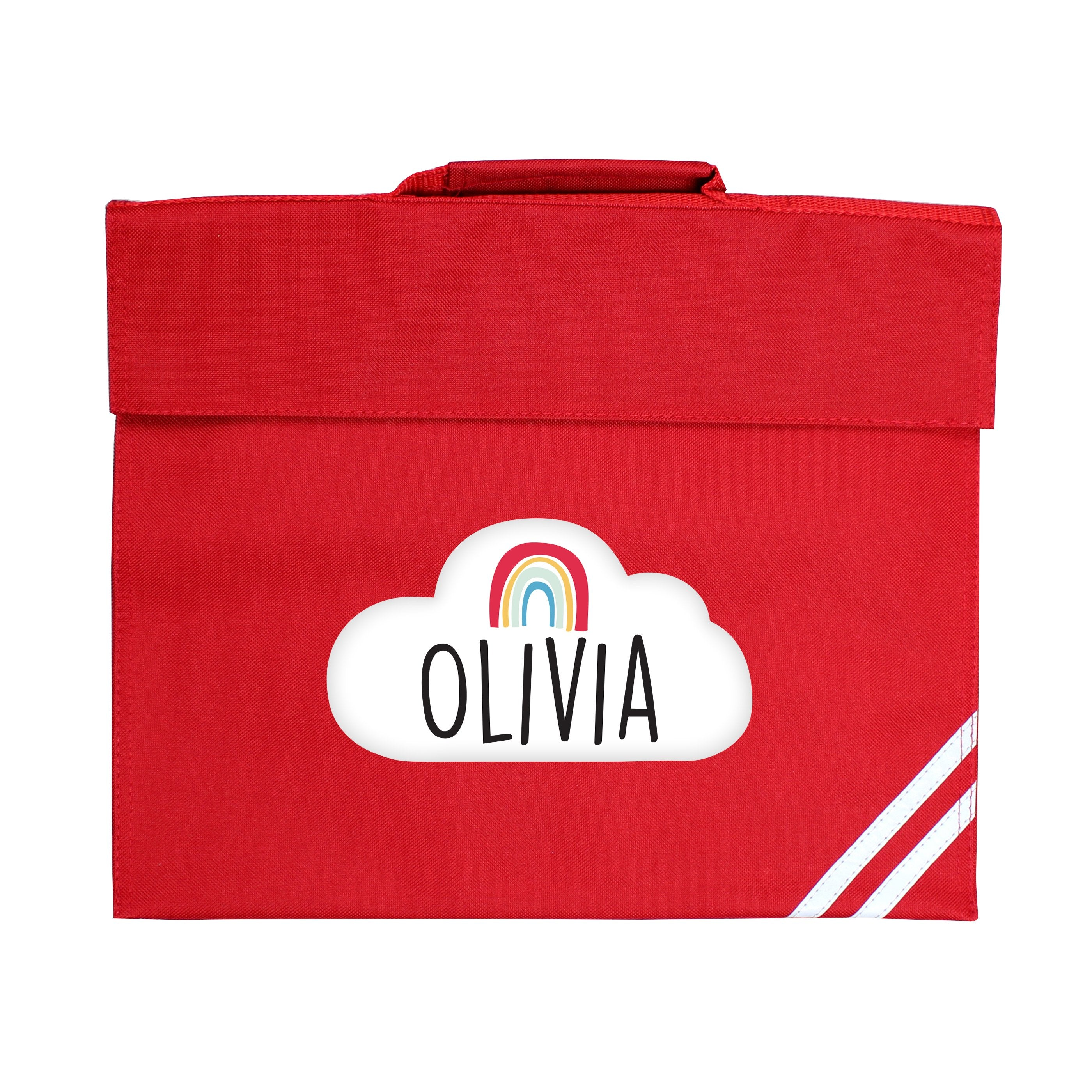 Personalised Rainbow Red Book Bag - Shop Personalised Gifts