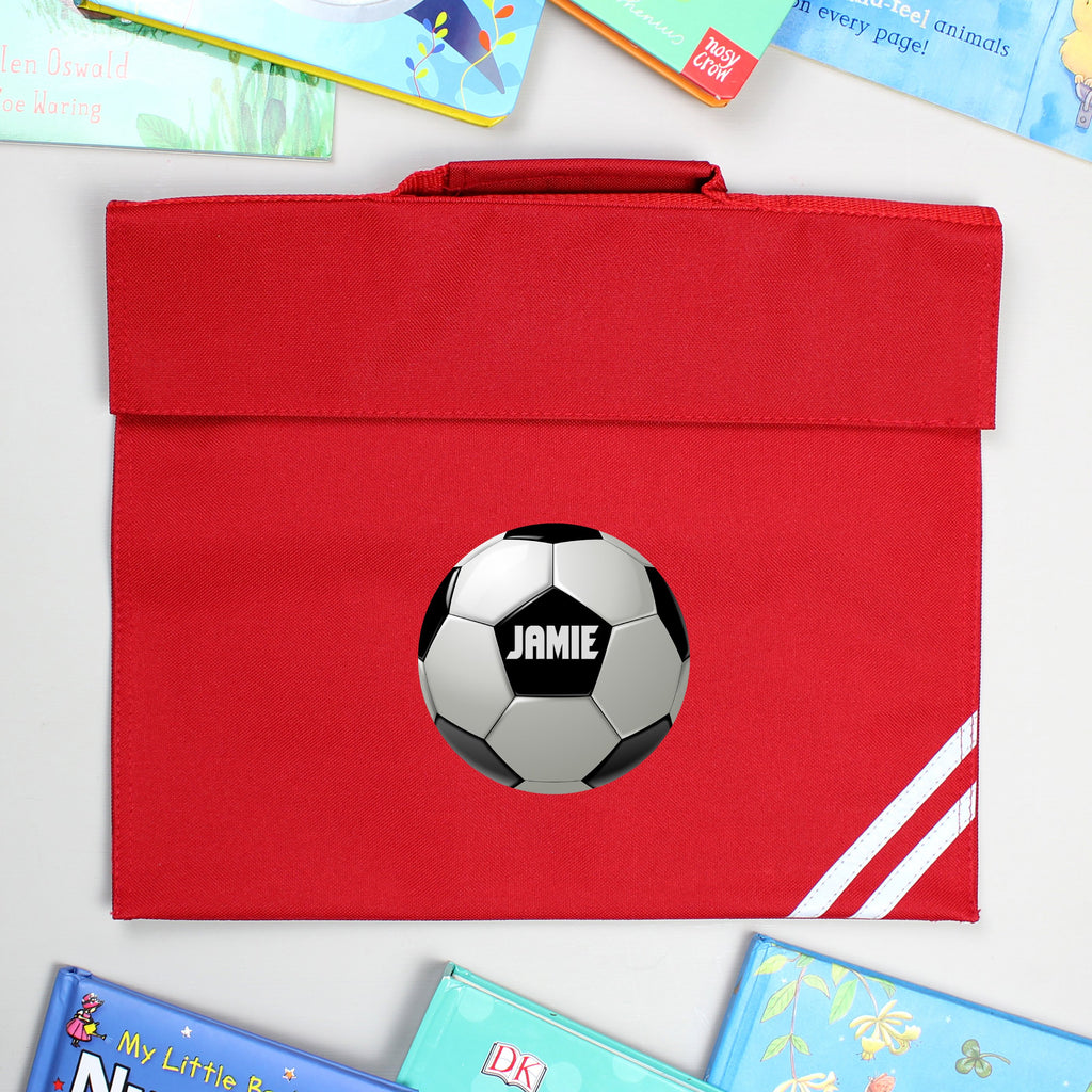 Personalised Football Red Book Bag - Shop Personalised Gifts