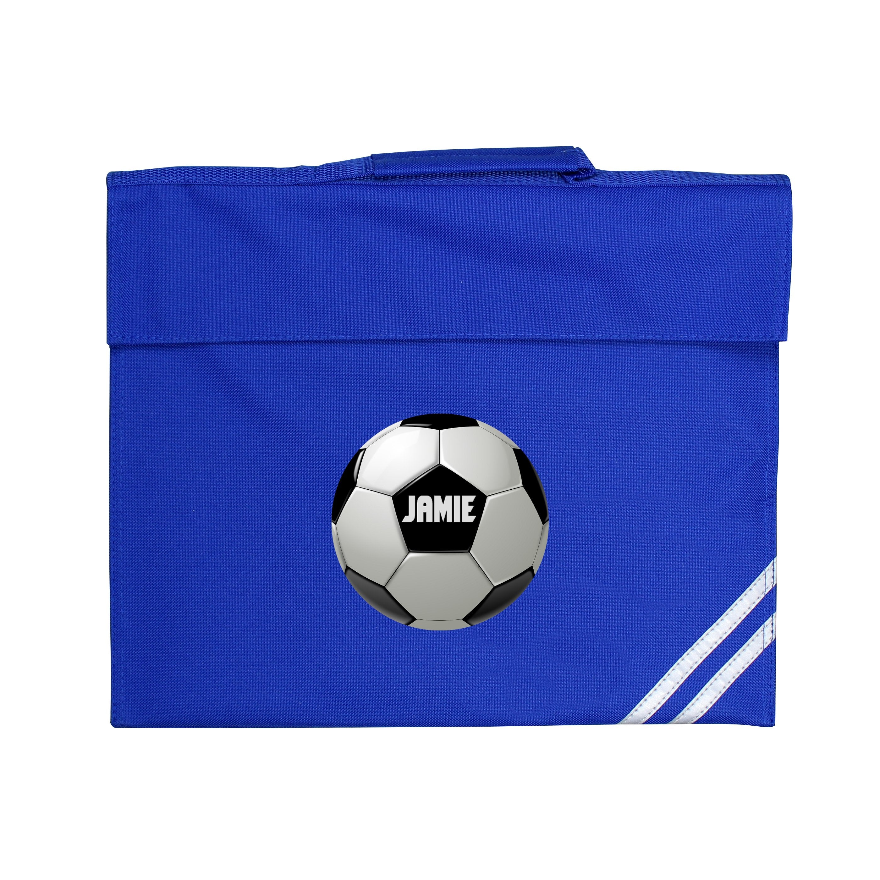 Personalised Football Blue Book Bag - Shop Personalised Gifts