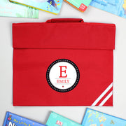 Personalised Initial Red Book Bag - Shop Personalised Gifts